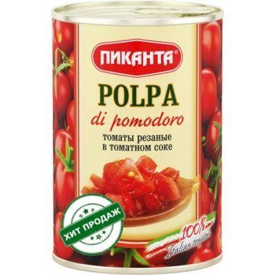 Томаты Пиканта резаные в томатном соке (с ключом)