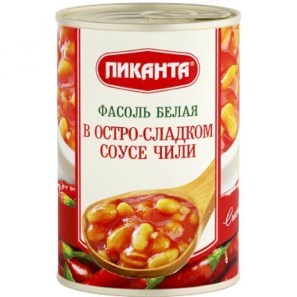 Фасоль Пиканта белая в остро-сладком соусе Чили