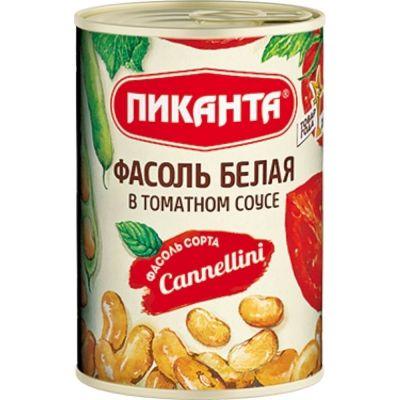 Фасоль Пиканта белая в томатном соусе