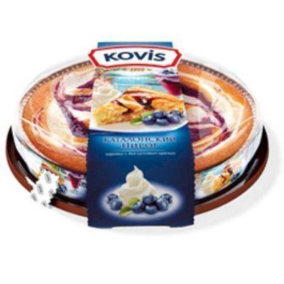 Пирог бисквитный Kovis Каталонский черника с йогуртовым кремом
