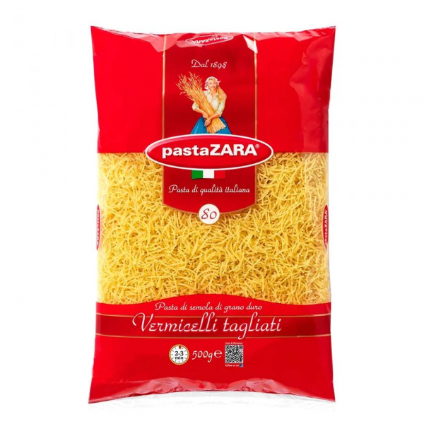Макаронные изделия Pasta Zara Вермишель №80