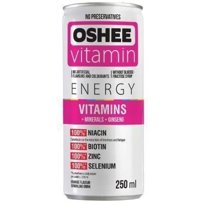 Напиток газированный Oshee Vitamins And Minerals со вкусом апельсина