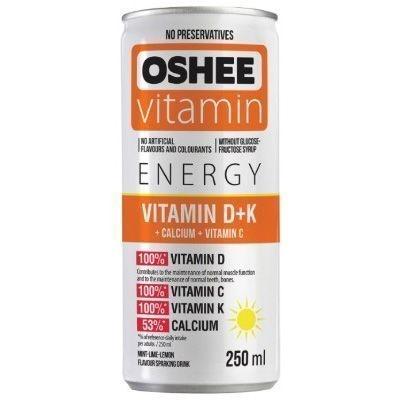 Напиток газированный Oshee Vitamin D+K со вкусом мяты, лайма и лимона