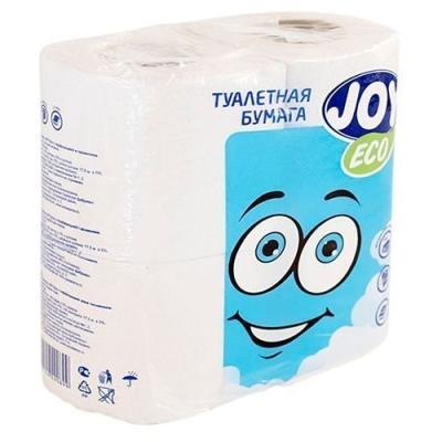 Туалетная бумага JOY Эко 2 слоя 4 рулона белая