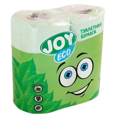Туалетная бумага JOY Эко 2 слоя 4 рулона зеленая