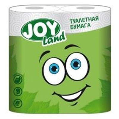 Туалетная бумага JOY Land 2 слоя 4 рулона зеленая