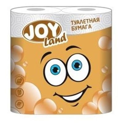 Туалетная бумага JOY Land 2 слоя 4 рулона персиковая
