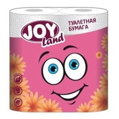 Туалетная бумага JOY Land 2 слоя 4 рулона розовая