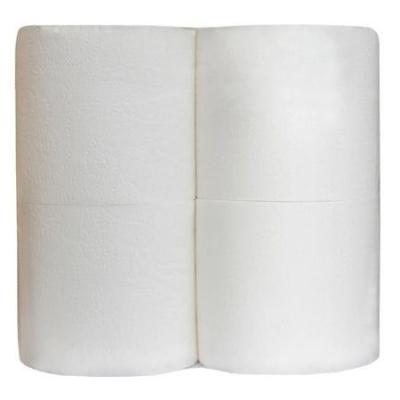 Туалетная бумага в безликой упаковке 23м 2 слоя 4 рулона белая