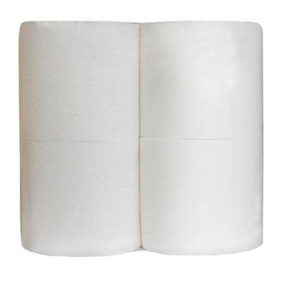 Туалетная бумага в безликой упаковке 3 слоя 4 рулона белая