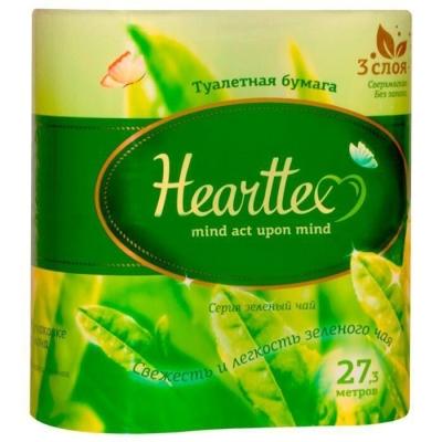 Туалетная бумага Hearttex 3-х слойная 4 рулона длина 27,3 м.