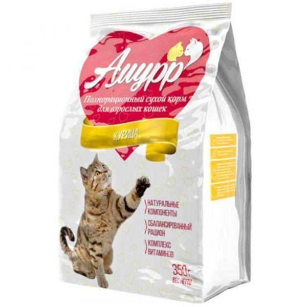 Корм сухой для взрослых кошек Амурр Курица