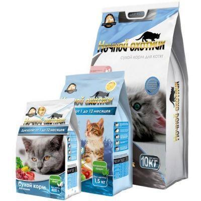 Корм сухой для котят Ночной охотник пакет
