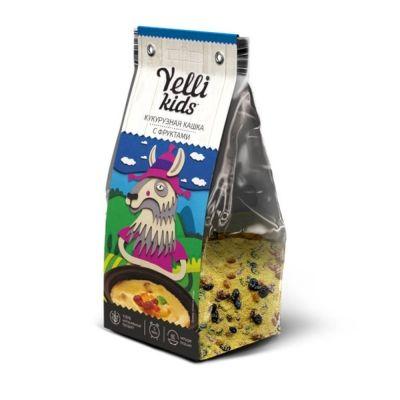 Кукурузная кашка с фруктами Yelli KIDS