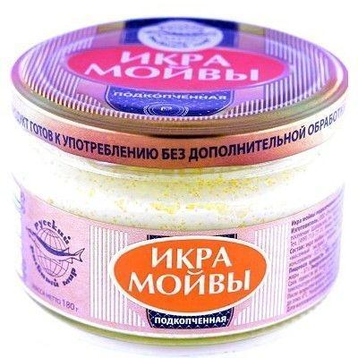 Икра мойвы Русский Рыбный мир подкопченая ст/б
