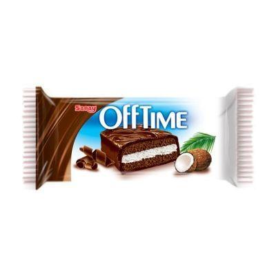 Бисквит шоколадный Saray Off Time покрытый молочным шоколадом с прослойкой из кокосового крема