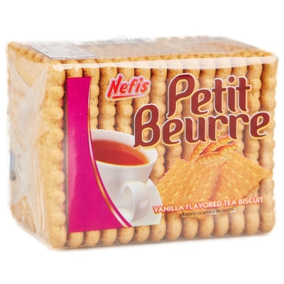 Печенье затяжное Nefis Petit Beurre с ванильным ароматом
