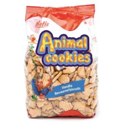 Печенье затяжное Nefis Animal Cookies с ванильным ароматом