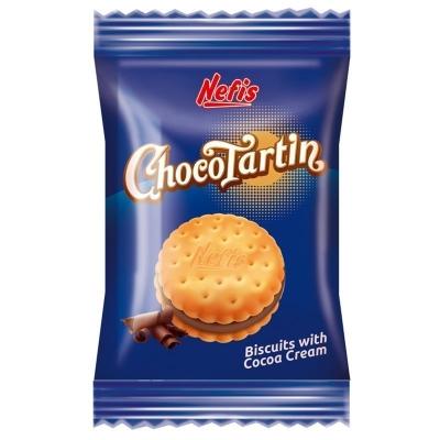 Печенье двойное Nefis Чокортартина (Chocotartin) с кремом какао