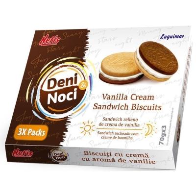 Печенье двойное Nefis День и ночь (Deni i noci) с ванильным кремом