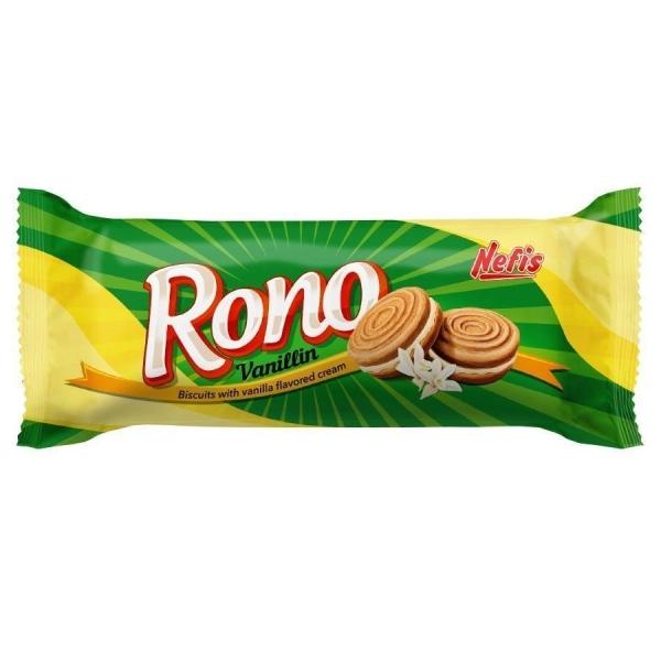 Печенье сахарное Nefis Rono двойное с ванильным кремом