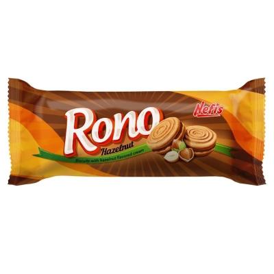 Печенье сахарное Nefis Rono двойное с ореховым кремом