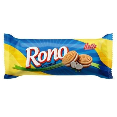 Печенье сахарное Nefis Rono двойное с кремом с кокосовым ароматом