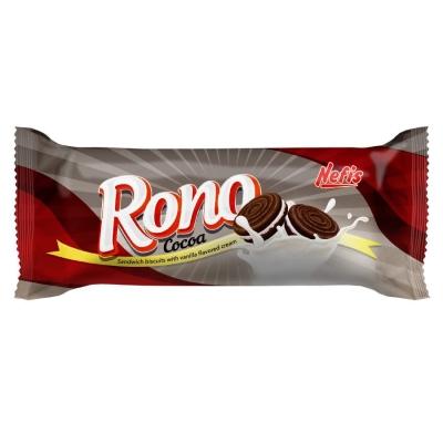 Печенье сахарное Nefis Rono двойное с какао и ванильным кремом
