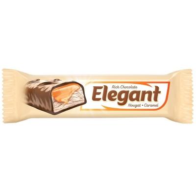 Батончик Nefis Элегант (Elegant) с нугой и молочной карамелью глазированный
