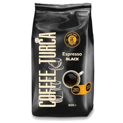 Турецкий кофе 'Coffee Turca' Эспрессо в зернах (пакет c дегазационным клапаном)