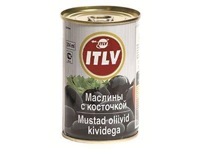 Маслины черные 'ITLV' с косточкой