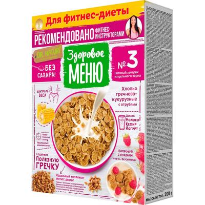 Хлопья Здоровое меню №3 кукурузно-гречневые
