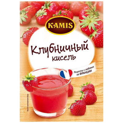 Кисель Kamis моментального приготовления Клубничный