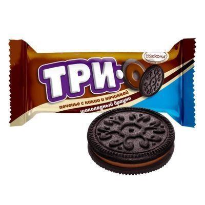 Печенье Акконд ТРИО какао с начинкой шоколадный брауни