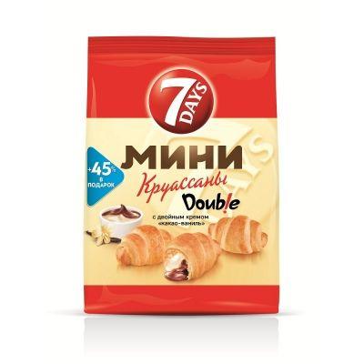 Круассан Мини '7 дней' с двойным кремом Какао-Ваниль