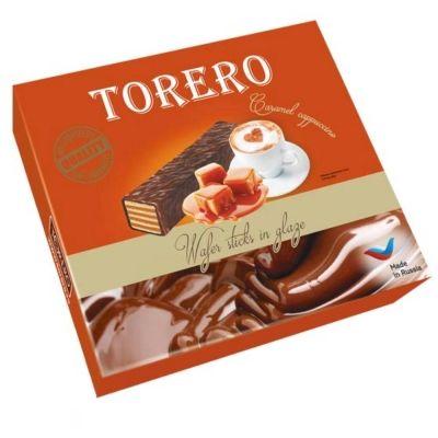Вафли Тореро Палочка со вкусом карамельный капучино в глазури