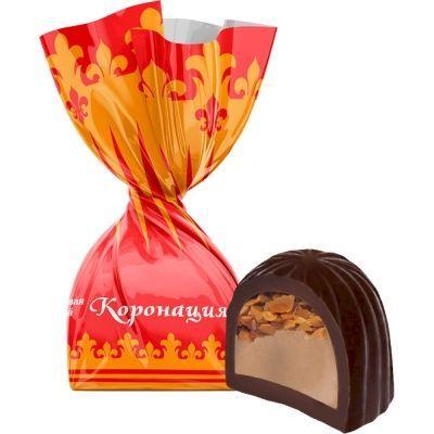Конфеты Невский Кондитер Коронация со сливочно-ореховой начинкой и карамельной крошкой