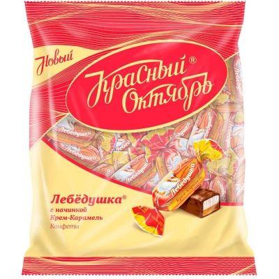Конфеты Красный Октябрь Лебедушка вкус Крем-Карамель