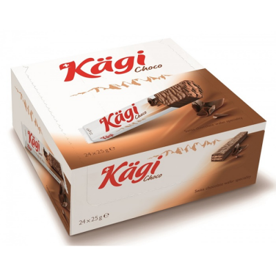 Вафли Kaegi Choco начинка шоколадный крем в молочном шоколаде