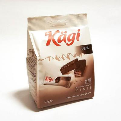 Вафли Kaegi Dark mini в тёмном шоколаде