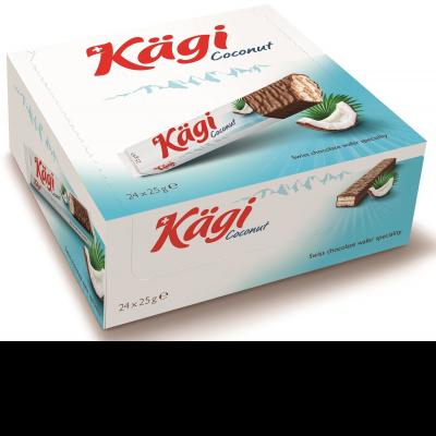 Вафли Kaegi Coconut кокосовый крем в молочном шоколаде