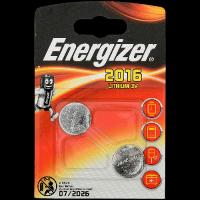 Батарейка Energizer CR 2016 Литиевая 3V 2шт