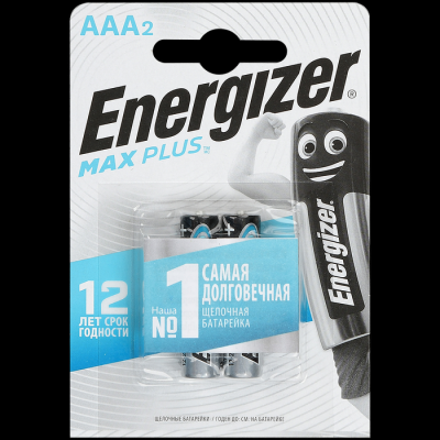 Батарейка Energizer Max Plus AAA E92 Алкалиновая 1.5V 2шт