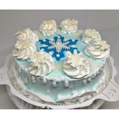 Торт Чайная Роза Снежинка