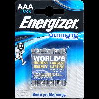 Батарейка Energizer ULTIMATE AAА L92 Литий 1.5V 4шт