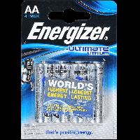 Батарейка Energizer ULTIMATE AA L91 Литиевая 1.5V 4шт