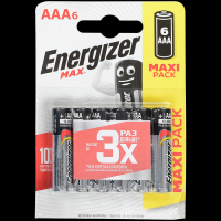 Батарейка Energizer MAX AAA E92 Алкалиновая 1.5V 6шт
