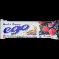 Батончик мюсли БАД Ego Лесные ягоды с кальцием и витаминами в йогуртовой глазури