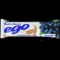 Батончик мюсли БАД Ego Черника с экстрактом черники и витаминами в йогуртовой глазури