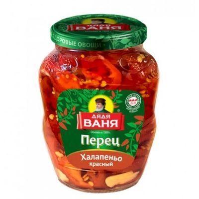 Перец Дядя Ваня Халапеньо красный (нарезанный)